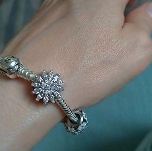 Jewelry - 925 CZ snowflake charm bead